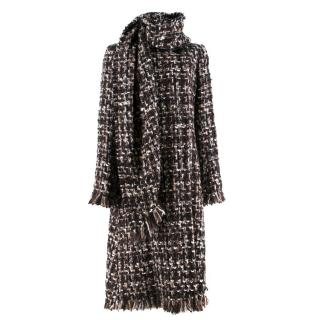 Alexander McQueen Wool Braided Long Coat