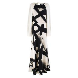 MaxMara Cream Long sleeve Maxi Dress