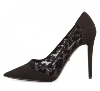 Diane Von Furstenberg Mesh & Leather Pump