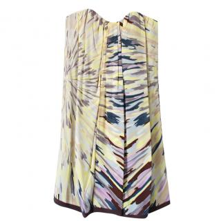 Missoni Abstract-Print Strapless Silk Dress