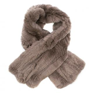 Fur 5 Eight Rex Rabbit Fur Scarf