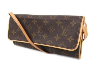 Louis Vuitton Twin PM Pochette Monogram Shoulder Bag