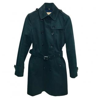 Burberry navy trench coat