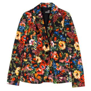 Love Moschino Floral Print Blazer