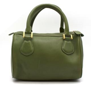 J.Crew Small Green Leather Top Handle Bag