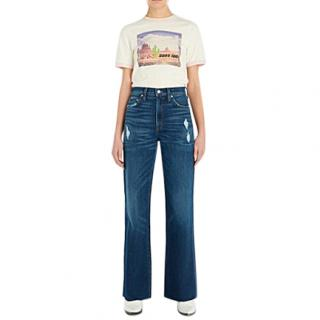 SLVRLAKE Grace Ripped High-rise Straight-leg Jeans