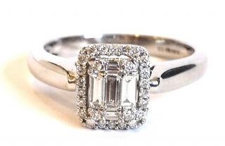 Bespoke Baguette & Round White Gold Diamond Ring