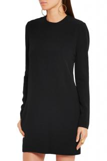 Victoria Beckham Lace-Paneled Cady Mini Dress