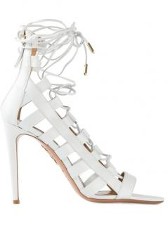 Aquazzura Amazon 105 Leather Heeled Sandals