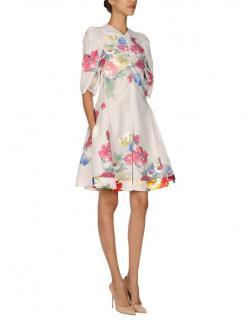 Celine Floral Painting Print Gauze Jumpsuit