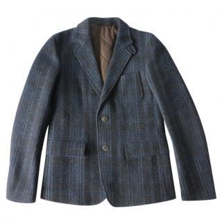 Gucci Blue Tweed Poacher's Jacket