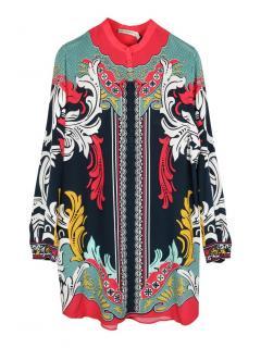 Mary Katrantzou crepe de chine multi-colour silk dress
