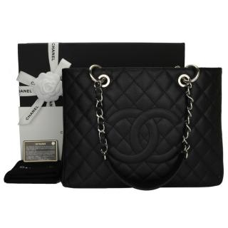 CHANEL  Grand Shopping Tote (GST Black Caviar ) Bag