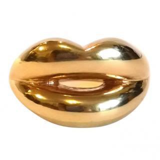 Rare Solange Azagury-Partridge Gold Lips Ring