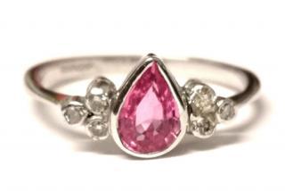 Bespoke Pink Sapphire & Diamond Ring 18ct Gold