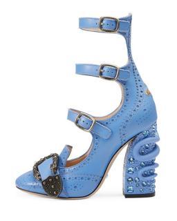 Gucci Snake embellished heels