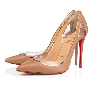 bac927ac1f7e Christian Louboutin Cosmo leather nude pumps