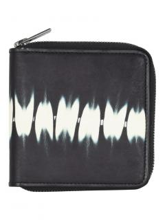 Issey Miyake Men's abstract print leather zip wallet
