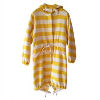 MaxMara Angora Wool Yellow & White Striped Coat