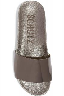 Schutz Camilis mirrored-leather slides