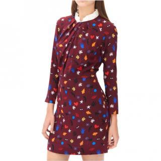 Sandro Roxana Printed Dress