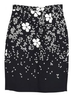 Dsquared2 floral knit pencil skirt