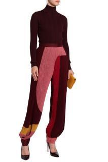 Roksanda color-block plisse crepe pleated pants