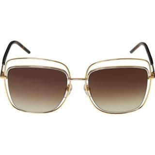 Marc Jacobs Gold Double Rimmed Tinted Avaitors