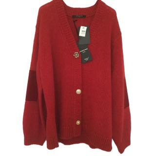 Mother of Pearl Oversized red cardigan