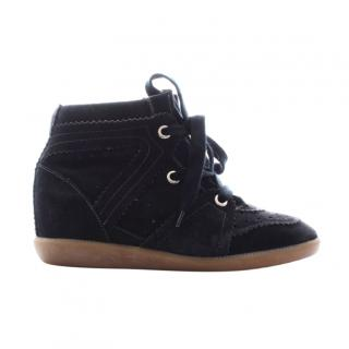 Isabel Marant 'Bobby' Basket Suede Wedge Trainers