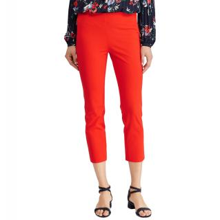 Lauren Ralph Lauren Red Slim Capri Trousers