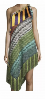 Missoni mare asymmetrical fringe dress