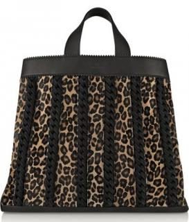 Tamara Mellon Sugar Daddy Suede-trimmed Leather & Calf Hair Tote