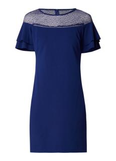 Lauren Ralph Lauren Blue Lace Volant Sleeve Shift Dress
