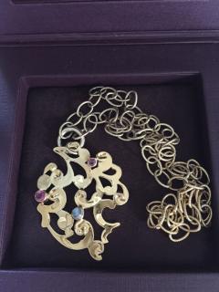 Monica Vinader 18ct gold vermeil Lace necklace