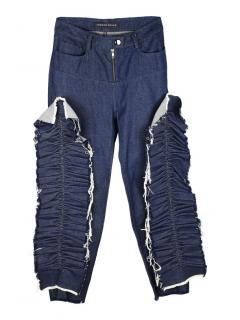 Fyodor Golan frill-trimmed straight high-rise jeans