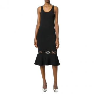 Michael Michael Kors Black Knit Midi Dress