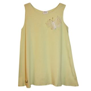 Armani Junior Yellow Sleeveless Top