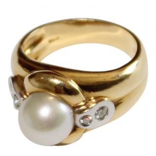 Bespoke 18ct Gold & Cultured Pearl Ring