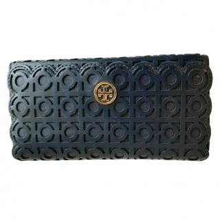 Tory Burch Black Lasercut Wallet