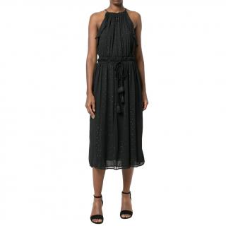 Michael Michael Kors Black Tassel Midi Dress