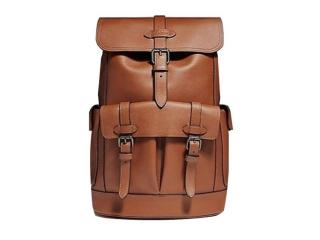 Coach Men's Backpack in Soft Leather with Coach Logo