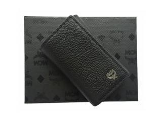 MCM KeyFob Card Wallet in Black Leather