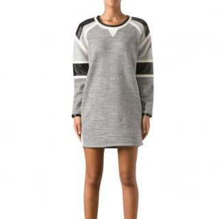 Iro Grey Cotton Jersey Marl Jumper Dress