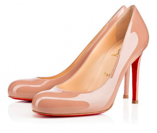 Christian Louboutin Simple nude patent leather pumps