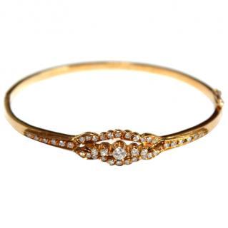 Bespoke Russian 2ct Diamond & 14ct Gold Bangle