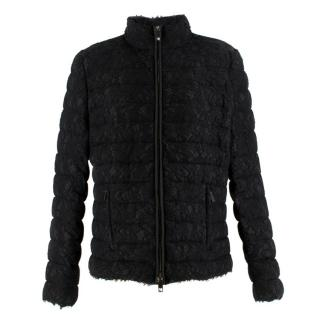 Valentino Black Lace Short Puffer Jacket