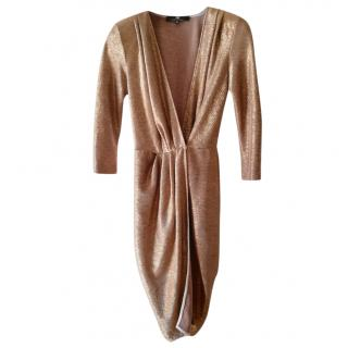 Elisabetta Franchi Gold wrap dress