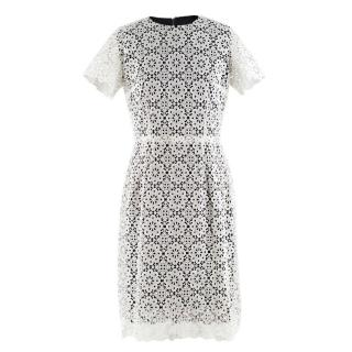 Dolce & Gabbana Black & White Lace Overlay Dress