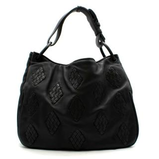 Bottega Veneta Black Nappa Leather Shoulder Bag